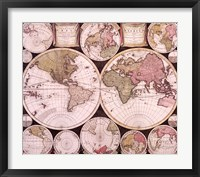 Framed Atlas Major World Map