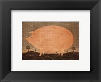 Framed American Pig