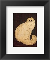 Framed White Persian Cat