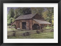 The Blue Wagons Framed Print