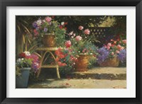 Framed Potted Flowers