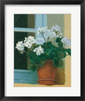 Framed Creancey Geraniums II
