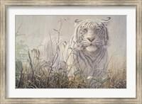 Framed Monsoon- White Tiger (detail)