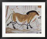 Framed Yellow Horse