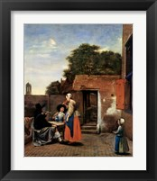 Framed Dutch Courtyard