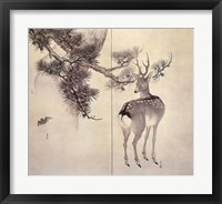 Framed Deer Pine Bat