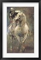 Framed Soldier on Horseback