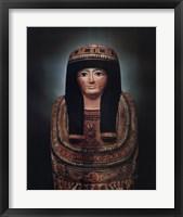 Framed Mummy Case of Lady Teshat