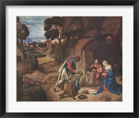 Framed Adoration of the Shepherds