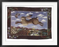 Framed Flying Hare