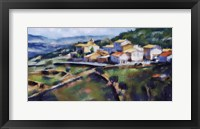 Framed Hillside Village 16.5x25