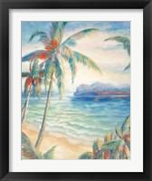 Framed Tropical Breeze I - palm trees