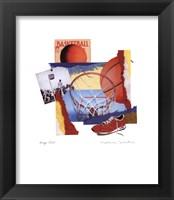 Hoop Shot Framed Print