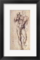 Framed Standing Male Nude