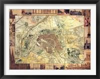 Framed Carte de Paris II