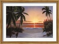 Framed Sunset Sail