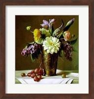 Framed Flowers in an Indian Vase