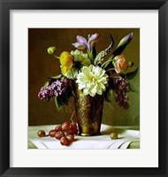 Framed Flowers in an Indian Vase