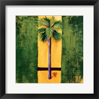 Framed Neon Palm III