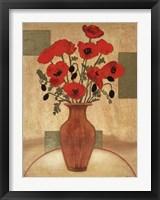 Framed Crimson Poppies