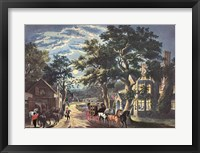 Framed Currier and Ives - Wayside Inn