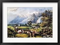 Framed Rocky Mountains