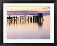 Framed Old Wharf at Dawn