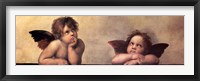 Framed Cherubim Putti Angels of The Sistine Madonna, c.1514