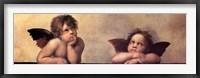 Framed Cherubim Putti Angels of The Sistine Madonna, c.1514