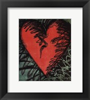 Framed Rancho Woodcut Heart