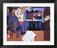 Framed Profile/Part II, The Thirties: Artist with Painting and Model, 1981