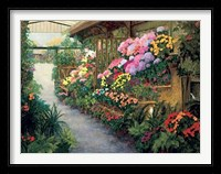 Framed Spring Flower Market