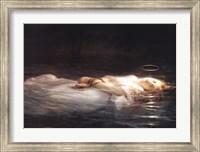 Framed La Jeune Martyre