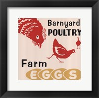 Framed Barnyard Poultry-Farm Eggs