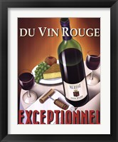 Framed Du Vin Rouge Exceptionnel