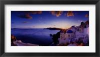 Framed Mykonos Sunset