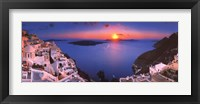 Framed Sunset in the Mediterranean