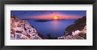 Framed Sunset in the Mediterranean