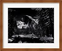 Framed Half Dome, Merced River, Winter