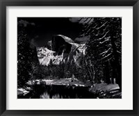 Half Dome, Merced River, Winter Framed Print