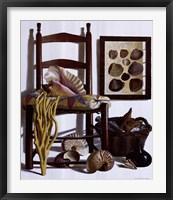 Framed Beachcomber's Basket, 1989
