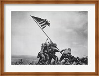 Framed Flag Raising on Iwo Jima, February 23, 1945