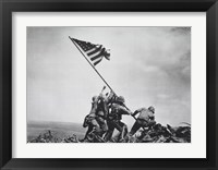 Framed Flag Raising on Iwo Jima, February 23, 1945