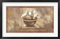 Framed Fresco Doves