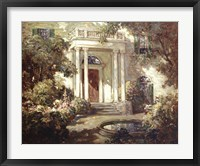 Framed Front Porch in Dappled Sunlight