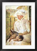 Framed Woman with Dog