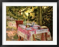Framed Table Set in a Garden