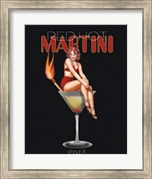 Framed Red Hot Martini