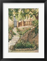 Courtyard in Provence Framed Print