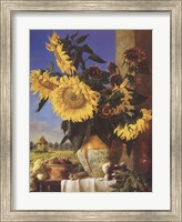 Framed Sunflowers and Pigeonnier